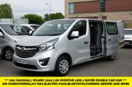 VAUXHALL VIVARO 2900 L2H1 CDTI LWB SPORTIVE 6 SEATER DOUBLE CAB CREW VAN IN SILVER WITH AIR CONDITIONING,SAT NAV,ELECTRIC PACK,SENSORS AND MORE - 1098 - 1