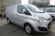 FORD TRANSIT CUSTOM 270/125 LIMITED L1H1 SWB DIESEL VAN IN SILVER WITH ONLY 28.000 MILES,SAT NAV,AIR CONDITIONING,ELECTRIC PACK,CRUISE CONTROL,ALLOY WHEELS AND MORE - 928 - 3