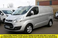 FORD TRANSIT CUSTOM 270/125 LIMITED L1H1 SWB DIESEL VAN IN SILVER WITH ONLY 18.000 MILES,AIR CONDITIONING,HEATED SEATS,ELECTRIC PACK,CRUISE CONTROL,ALLOY WHEELS AND MORE - 1041 - 1