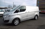 FORD TRANSIT CUSTOM 270/125 LIMITED L1H1 SWB DIESEL VAN IN SILVER WITH ONLY 28.000 MILES,SAT NAV,AIR CONDITIONING,ELECTRIC PACK,CRUISE CONTROL,ALLOY WHEELS AND MORE - 928 - 1