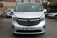 VAUXHALL VIVARO 2900 L2H1 CDTI LWB SPORTIVE 6 SEATER DOUBLE CAB CREW VAN IN SILVER WITH AIR CONDITIONING,SAT NAV,ELECTRIC PACK,SENSORS AND MORE - 1098 - 2