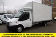 FORD TRANSIT 350/125 DRW E/F LUTON TAILLIFT DIESEL VAN WITH ONLY 62.000 MILES - 955 - 1