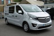 VAUXHALL VIVARO 2900 L2H1 CDTI LWB SPORTIVE 6 SEATER DOUBLE CAB CREW VAN IN SILVER WITH AIR CONDITIONING,SAT NAV,ELECTRIC PACK,SENSORS AND MORE - 1098 - 4