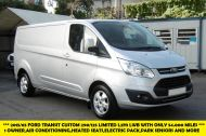FORD TRANSIT CUSTOM 290/125 LIMITED L2H1 LWB IN SILVER WITH ONLY 54.000 MILES,AIR CONDTIONING,HEATED SEATS,ELECTRIC PACK,ALLOY WHEELS AND MORE - 1283 - 1