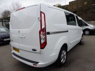 FORD TRANSIT CUSTOM 290/130 LIMITED L1H1 EURO 6  2.0 TDCI 130 6 - SEAT  COMBI VAN IN FROZEN WHITE WITH ONLY 19000 MILES , **** £15995 + VAT ****  - 1342 - 4