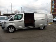 FORD TRANSIT CUSTOM 290/125 LIMITED L2H1 LWB IN SILVER WITH ONLY 54.000 MILES,AIR CONDTIONING,HEATED SEATS,ELECTRIC PACK,ALLOY WHEELS AND MORE - 1283 - 8