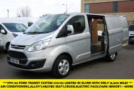 FORD TRANSIT CUSTOM 270/125 LIMITED L1H1 SWB DIESEL VAN IN SILVER WITH ONLY 18.000 MILES,AIR CONDITIONING,HEATED SEATS,ELECTRIC PACK,CRUISE CONTROL,ALLOY WHEELS AND MORE - 1041 - 8