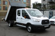FORD TRANSIT 350 L3 DOUBLE CREW CAB ALLOY TIPPER WITH ONLY 34.000 MILES,6 SPEED MANUAL,TOW BAR AND MORE  - 1228 - 22