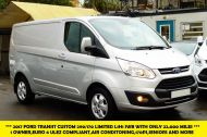 FORD TRANSIT CUSTOM 290 LIMITED L1H1 SWB 170 EURO 6 IN METALLIC SILVER WITH ONLY 22.000 MILES **** £14995 + VAT **** - 1368 - 1