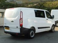 FORD TRANSIT CUSTOM 290 L1 SWB 6 SEATER DOUBLE CAB COMBI CREW VAN IN WHITE WITH BLUETOOTH,6 SPEED,EURO 6 AND MORE *** SOLD *** - 1550 - 6