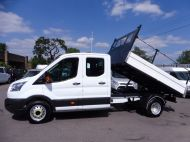 FORD TRANSIT 350/125 L3 DOUBLE CREW CAB ALLOY TIPPER WITH ONLY 56.000 MILES,1 OWNER,6 SPEED,TOW BAR AND MORE - 1428 - 8