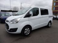 FORD TRANSIT CUSTOM 290/130 LIMITED L1H1 EURO 6  2.0 TDCI 130 6 - SEAT  COMBI VAN IN FROZEN WHITE WITH ONLY 19000 MILES , **** £15995 + VAT ****  - 1342 - 1