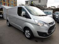 FORD TRANSIT CUSTOM 290/125 LIMITED L2H1 LWB IN SILVER WITH ONLY 54.000 MILES,AIR CONDTIONING,HEATED SEATS,ELECTRIC PACK,ALLOY WHEELS AND MORE - 1283 - 4