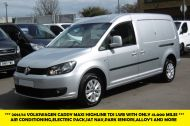VOLKSWAGEN CADDY MAXI C20 TDI HIGHLINE IN SILVER WITH ONLY 41.000 MILES,AIR CONDITIONING,SAT NAV,ELECTRIC PACK AND MORE - 1099 - 1