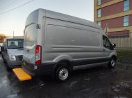 FORD TRANSIT  350 L3 H3 2.0 TDCI 130 EURO 6 ** ULEZ COMPLIANT **  IN METALLIC SILVER , 1 OWNER , THIS VEHICLE IS AN EXCELLENT MOBILE WORKSHOP WITH NO SIDE LOADING DOOR & FULL RACKING SYSTEM **** £17995 + VAT **** - 1629 - 2