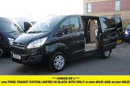 FORD TRANSIT CUSTOM 270/125 LIMITED L1H1 SWB DIESEL VAN IN BLACK WITH ONLY 37.000 MILES,AIR CONDITIONING,HEATED SEATS,ELECTRIC PACK,CRUISE CONTROL,ALLOY WHEELS AND MORE  - 1053 - 1