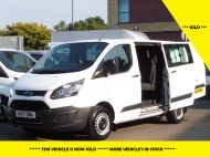 FORD TRANSIT CUSTOM 290 L1 SWB 6 SEATER DOUBLE CAB COMBI CREW VAN IN WHITE WITH BLUETOOTH,6 SPEED,EURO 6 AND MORE *** SOLD *** - 1550 - 1