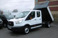 FORD TRANSIT 350 L3 DOUBLE CREW CAB ALLOY TIPPER WITH ONLY 34.000 MILES,6 SPEED MANUAL,TOW BAR AND MORE  - 1228 - 21