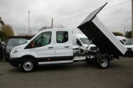 FORD TRANSIT 350 L3 DOUBLE CREW CAB ALLOY TIPPER WITH ONLY 34.000 MILES,6 SPEED MANUAL,TOW BAR AND MORE  - 1228 - 20
