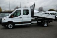 FORD TRANSIT 350 L3 DOUBLE CREW CAB ALLOY TIPPER WITH ONLY 34.000 MILES,6 SPEED MANUAL,TOW BAR AND MORE  - 1228 - 9