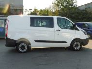 FORD TRANSIT CUSTOM 290 L1 SWB 6 SEATER DOUBLE CAB COMBI CREW VAN IN WHITE WITH BLUETOOTH,6 SPEED,EURO 6 AND MORE *** SOLD *** - 1550 - 20