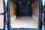 FORD TRANSIT CUSTOM 270/125 LIMITED L1H1 SWB DIESEL VAN IN BLACK WITH ONLY 37.000 MILES,AIR CONDITIONING,HEATED SEATS,ELECTRIC PACK,CRUISE CONTROL,ALLOY WHEELS AND MORE  - 1053 - 13