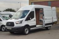 FORD TRANSIT 350 L3 H3 RWD 2.0 TDCI 130 IN WHITE WITH AIR CONDITIONING ** EURO 6 , ULEZ COMPLIANT  , ONLY  46000 MILES **** £15495 + VAT **** - 1742 - 2
