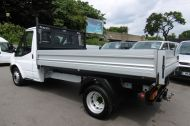 FORD TRANSIT 350 SINGLE CAB ALLOY TIPPER WITH ONLY 50.000 MILES,6 SPEED,TWIN REAR WHEELS,EURO 5 AND MORE - 1120 - 9