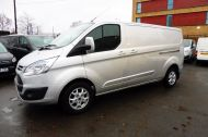 FORD TRANSIT CUSTOM 290 LIMITED L2 H1 125 LWB IN METALLIC SILVER WITH AIR CONDTIONING **** JUST ARRIVED ***** £9995 + VAT  - 1258 - 1