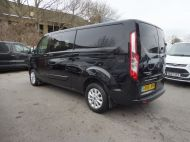 FORD TRANSIT CUSTOM 300 LIMITED 2.0 DCIV 170 L2 H1 5 SEAT CREWVAN  IN METALLIC BLACK WITH ONLY 15000 MILES , 1 OWNER , JUST ARRIVED **** £22995 + VAT **** - 1664 - 6