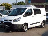 FORD TRANSIT CUSTOM 290 L1 SWB 6 SEATER DOUBLE CAB COMBI CREW VAN IN WHITE WITH BLUETOOTH,6 SPEED,EURO 6 AND MORE *** SOLD *** - 1550 - 2