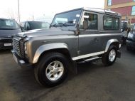 LAND ROVER DEFENDER 90 XS STATION WAGON 2.4 TDCI 120 6 - SPEED IN METALLIC GREY WITH HALF LEATHER AND AIR CONDITIONING , JUST ARRIVED **** £19995 **** - 1297 - 1