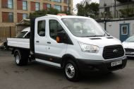 FORD TRANSIT 350 L3 DOUBLE CREW CAB ALLOY TIPPER WITH ONLY 34.000 MILES,6 SPEED MANUAL,TOW BAR AND MORE  - 1228 - 5