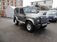 LAND ROVER DEFENDER 90 XS STATION WAGON 2.4 TDCI 120 6 - SPEED IN METALLIC GREY WITH HALF LEATHER AND AIR CONDITIONING , JUST ARRIVED **** £20995 **** - 1297 - 3