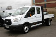 FORD TRANSIT 350 L3 DOUBLE CREW CAB ALLOY TIPPER WITH ONLY 34.000 MILES,6 SPEED MANUAL,TOW BAR AND MORE  - 1228 - 4