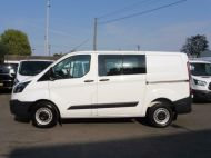 FORD TRANSIT CUSTOM 290 L1 SWB 6 SEATER DOUBLE CAB COMBI CREW VAN IN WHITE WITH BLUETOOTH,6 SPEED,EURO 6 AND MORE *** SOLD *** - 1550 - 18