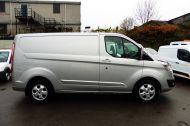 FORD TRANSIT CUSTOM 290 LIMITED L1H1 SWB 170 EURO 6 IN METALLIC SILVER WITH ONLY 22.000 MILES **** £13995 + VAT **** - 1368 - 2