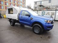 FORD RANGER XL 4X4 S/C 2.2 TDCI 160 6-SPEED WITH ALUMINIUM DROPSIDE BODY IN DEEP IMPACT BLUE , AIR CONDITIONING , ONLY 28000 MILES **** DEPOSIT TAKEN **** - 1663 - 3