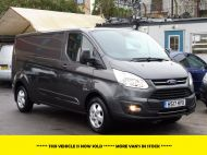 FORD TRANSIT CUSTOM 290/130 LIMITED EURO 6 L2 LWB IN MAGNETIC GREY WITH ONLY 23.000 MILES,2.0 130PS,AIR CONDITIONING **** SOLD **** - 1239 - 1