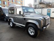 LAND ROVER DEFENDER 90 XS STATION WAGON 2.4 TDCI 120 6 - SPEED IN METALLIC GREY WITH HALF LEATHER AND AIR CONDITIONING , JUST ARRIVED **** £19995 **** - 1297 - 3