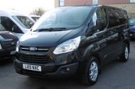 FORD TRANSIT CUSTOM 270/125 LIMITED L1H1 SWB DIESEL VAN IN BLACK WITH ONLY 37.000 MILES,AIR CONDITIONING,HEATED SEATS,ELECTRIC PACK,CRUISE CONTROL,ALLOY WHEELS AND MORE  - 1053 - 18