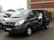 FORD TRANSIT CUSTOM 290/130 LIMITED EURO 6 L2 LWB IN MAGNETIC GREY WITH ONLY 23.000 MILES,2.0 130PS,AIR CONDITIONING **** SOLD **** - 1239 - 21