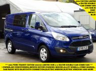 FORD TRANSIT CUSTOM 290/125 LIMITED L1H1 SWB 6 SEATER DOUBLE CAB COMBI VAN WITH AIR CONDITIONING,PARKING SENSORS,ALLOYS AND MORE - 1388 - 1
