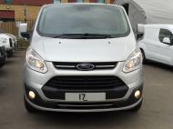 FORD TRANSIT CUSTOM 290 LIMITED L1H1 SWB 170 EURO 6 IN METALLIC SILVER WITH ONLY 22.000 MILES **** £13995 + VAT **** - 1368 - 3