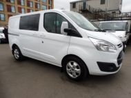 FORD TRANSIT CUSTOM 290/130 LIMITED L1H1 EURO 6  2.0 TDCI 130 6 - SEAT  COMBI VAN IN FROZEN WHITE WITH ONLY 19000 MILES , **** £15995 + VAT ****  - 1342 - 3
