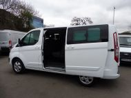 FORD TRANSIT CUSTOM 290/130 LIMITED L1H1 EURO 6  2.0 TDCI 130 6 - SEAT  COMBI VAN IN FROZEN WHITE WITH ONLY 19000 MILES , **** £15995 + VAT ****  - 1342 - 7
