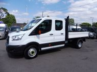 FORD TRANSIT 350/125 L3 DOUBLE CREW CAB ALLOY TIPPER WITH ONLY 56.000 MILES,1 OWNER,6 SPEED,TOW BAR AND MORE - 1428 - 2