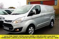 FORD TRANSIT CUSTOM 290/130 LIMITED L1H1 LWB IN SILVER WITH ONLY 21.000 MILES,2.0 130PS EURO 6,AIR CONDITIONING AND MORE - 1261 - 1