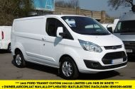 FORD TRANSIT CUSTOM 290/125 LIMITED L1H1 LWB IN WHITE WITH SAT NAV,AIR CONDTIONING,HEATED SEATS,ELECTRIC PACK,ALLOY WHEELS AND MORE - 1174 - 1