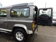 LAND ROVER DEFENDER 90 XS STATION WAGON 2.4 TDCI 120 6 - SPEED IN METALLIC GREY WITH HALF LEATHER AND AIR CONDITIONING , JUST ARRIVED **** £20995 **** - 1297 - 6